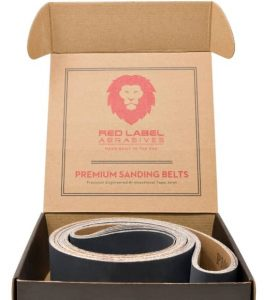 Red Label Abrasives 2 X 72 Inch Silicon Carbide Extra Fine Grit Sanding Belts 600, 800, 1000 Grits