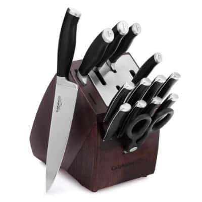 Calphalon Contemporary Self-Sharpening 15-Piece Knife Block Set with SharpIN Technology.