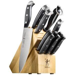 J.A. Henckels International Statement Kitchen Knife Set with Block, 12-pc