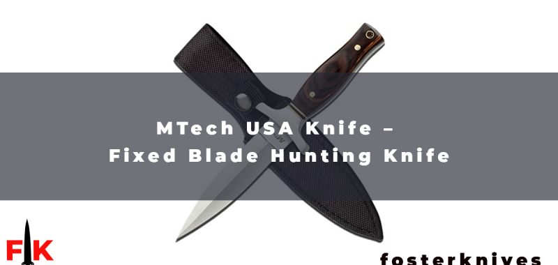 MTech USA Knife - Fixed Blade Hunting Knife