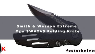 Smith & Wesson Extreme Ops SWA24S Folding Knife