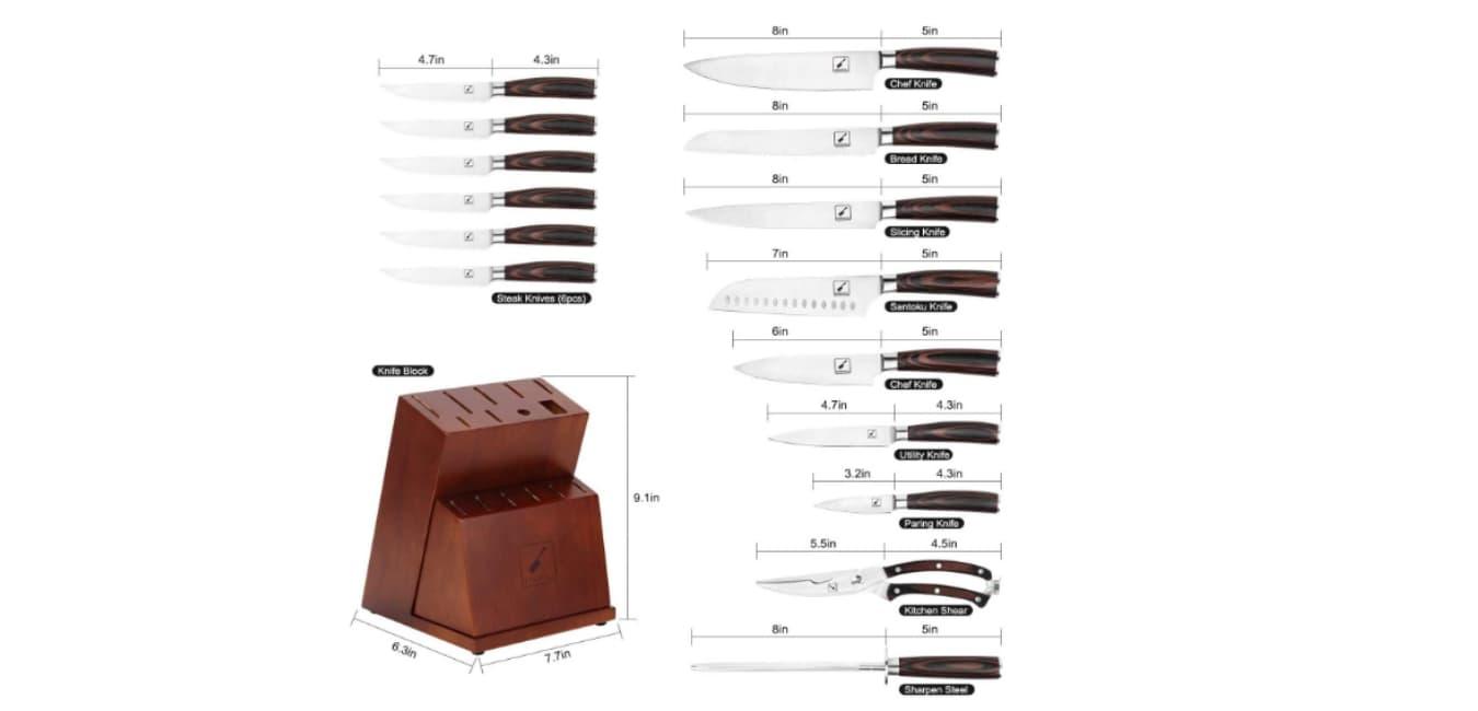 Imarku Knife set
