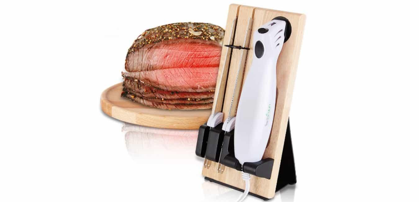 NutriChef PKELKN16 Portable Electrical Food Cutter Knife Set