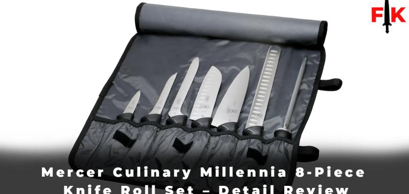 Mercer Culinary Millennia 8-Piece Knife Roll Set - Detail Review