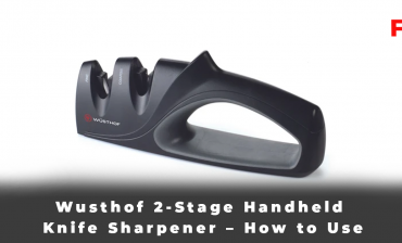 Wusthof 2-Stage Handheld Knife Sharpener – How to Use